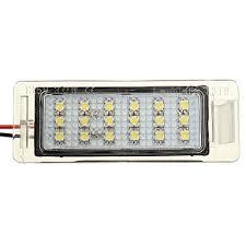2pcs 18 led car rear number license plate white light lamp 3528 smd 6500k 3w for bmw 3 series e46 m3 2d