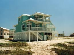 Oglethorpe Raised Beach Home Plan D    House Plans and MoreSunbelt Home Plan Rear Photo   D    House Plans and More