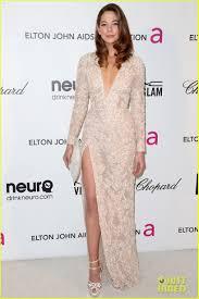 Analeigh Tipton. Elton John Oscars Party. Elie Saab dress and a.