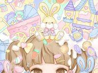 Pastel <b>Kawaii Anime Girls</b>