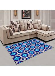 Shop <b>Diamond Print Simple</b> Anti-Skidding <b>Living</b> Room Carpet Blue ...