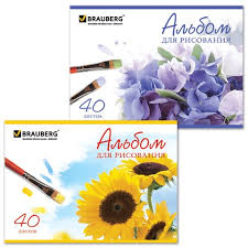 <b>Альбом для рисования</b>, А4, 40 листов, скоба, обложка картон ...
