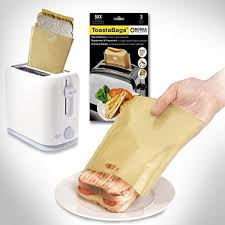 Toaster Bags for Grilled Cheese Sandwiches <b>Reusable Non-stick</b> ...