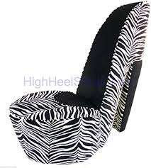 Zebra and Black High Heel Shoe Chair: Furniture ... - Amazon.com