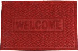 <b>Коврик придверный</b> Fidget Go Ромбы <b>Welcome</b>, бордовый ...