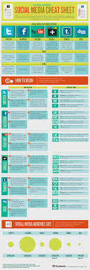 small business social media cheat sheet infographic social media cheat sheet