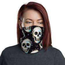 <b>Gothic Skull Pattern</b> Neck Gaiter, <b>Skull</b> Face Mask, <b>Skulls Pattern</b> ...