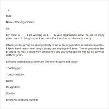 retirement letter template resignation retirement letter