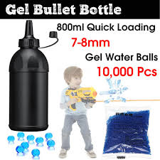 <b>Gel Balls</b> Bullet <b>Loading Bottle</b> + 10000pcs 7-8mm Jelly Beads Toy ...
