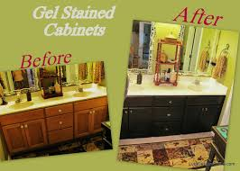gel stain kitchen cabinets: how to use gel stain diy gel stained master bath cabinet makeover kitchen cabinets gel stain