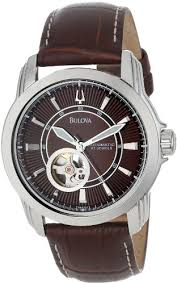 best cheap men s watches under 150 for the money 2017 hubpages bulova men s 96a108 stainless steel and brown leather automatic mechanical watch