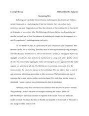 new marketing mix essay   example essay marketing mix mikhael   pages marketing mix example essay