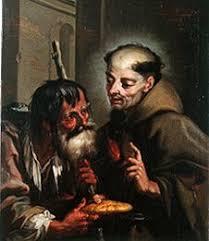 Der hl. Petrus Regaladis speist einen Be - Franz Sebald ... - hl_petrus_regaladis_speist_be_hi