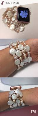 17 best ideas about apple watch rose gold rose gold apple watch iwatch freshwater pearl bracelet band nwt