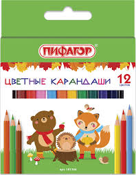 "<b>Карандаши цветные Пифагор</b> ""<b>Малыши-карандаши</b>"", 12 цветов ..."