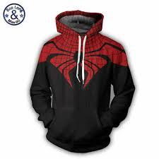Superhero The Avengers 3 <b>Spiderman</b> Hoodies Sweatshirt Mens ...