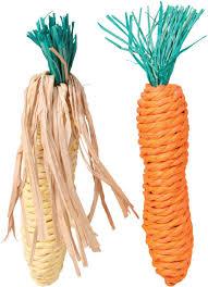 "Набор <b>игрушек для грызунов Trixie</b> ""Морковь и кукуруза"", длина ..."