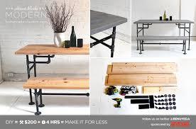 homemade modern diy ep3 wood and iron table postcard black iron pipe table