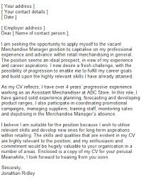 Retail Covering Letter Sample Professional CV Writing Services sample retail cover letter