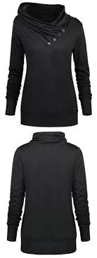 <b>Buttoned Turtleneck Sweatshirt</b> | Clothes, Cool outfits, Stylish outfits