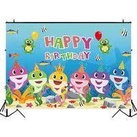 <b>OurWarm</b> Birthday Party Photography Backdrops Shark Happy ...