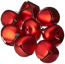 Matte Red Metal 25mm (approx 1inch) Jingle Bells ... - Amazon.com