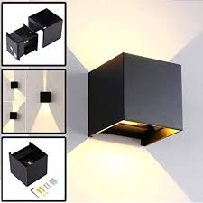 <b>Black 12W LED Modern</b> Wall Light with Adjustable Beam Angle ...