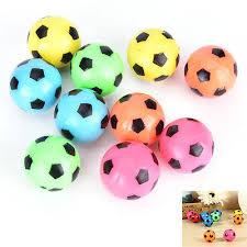 <b>10 Pcs Bouncing Football</b> Ball Rubber Elastic Jumping-Soccer Kid ...