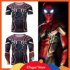<b>Raglan Sleeve</b> Iron <b>Spiderman 3D</b> Printed T shirts Men ...