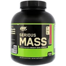 Optimum Nutrition, <b>Serious Mass</b>, <b>High Protein</b> Weight <b>Gain</b> Powder ...