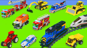 Police <b>Cars</b>, Fire <b>Truck</b>, <b>Train</b>, Ambulance, Excavator & Tractor ...