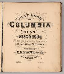 title page plat book of columbia county wisconsin david rumsey title page plat book of columbia county wisconsin