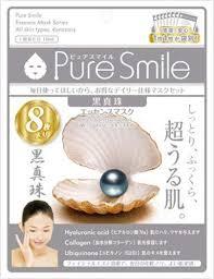 <b>Sun Smile Pure Smile</b> Essence Mask <b>Black</b> Pearl 8 sheets ...