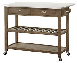 leaf kitchen cart: drop leaf stainless steel kitchen cart contemporary kitchen islands and kitchen