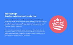 workshop developing educational leadership east