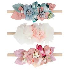 <b>Beautiful Artificial Floral Headband</b> Kids Lace Flower Nylon Head ...
