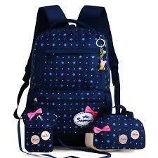 Buy <b>3pcs</b>/<b>set Fashion</b> Star Printing Children School Bags for <b>Girls</b> ...
