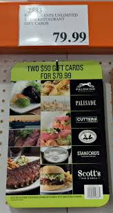 costco gift card save on dining entertainment and gifts restaurants unlimited discount gift cards