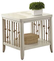 dockside rectangular end table white beach style side tables and white beach furniture