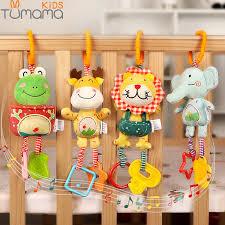 tumama baby rattles cartoon rabbit geometry number hand shake bell toys newborn plastic teether 0 12 months
