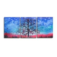 <b>Laeacco 3 Panel</b> Watercolor Tree Posters and Prints Modern ...