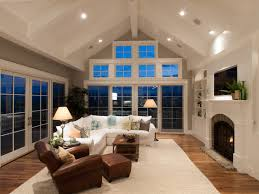 awesome great room vaulted ceiling ideas family room traditional with area rugs brick fireplace surround awesome family room lighting ideas