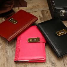 <b>NEW Leather Notebook Diary</b> with lock code Bussiness A5 Notepad ...