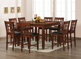 dining room pub style sets: craftman dining table design with pub style dining tables set on ebay tall brown finish