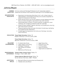 paralegal services resume