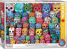 EuroGraphics Traditional Mexican Skulls 1000Piece ... - Amazon.com