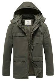 WenVen <b>Men's Thickened Cotton</b> Quilted Casual Winter <b>Jacket</b> with ...