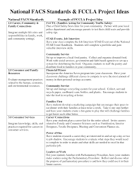 fccla lessons tes teach national facs standards fccla project ideas