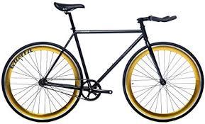 Quella <b>Nero Gold</b> (58cm) Fixie Fixed Gear Single Speed Commuter ...