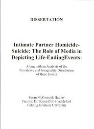 intimate partner homicide suicide the role of media in depicting intimate partner homicide suicide the role of media in depicting life ending events